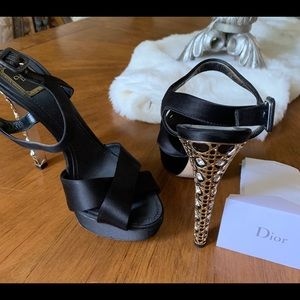 Women's Dior Studded Black Heel/ Stiletto
